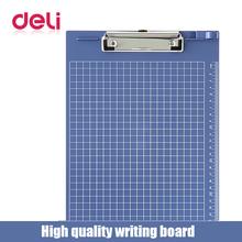 Deli 1pcs A4 document bag file folder clip board business office financial school supplies writting plastic made board
