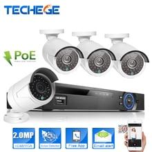 4CH PoE NVR Системы ВИДЕОНАБЛЮДЕНИЯ 4 шт. 2.0MP ip-камера Видеонаблюдения Системы Видеонаблюдения PoE Nvr Комплект Системы Камеры система