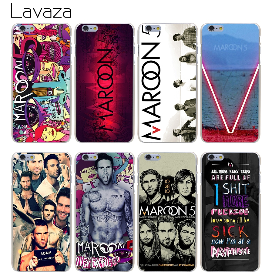 Lavaza Maroon 5 Hard Transparent Cover Case for iPhone X 10 8 7 6 6S Plus 5 5S SE 5C 4 4S