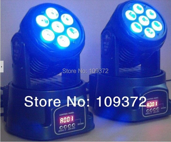 цена на Led Mini Moving Head Wash 7x10W RGBW 4IN1 LED Wash Light Stage Uplighting TipTop Som Profissional Strobo Iluminacao DJ, 4PCS/Lot