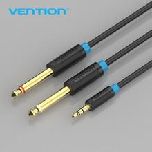 Vention-Cable adaptador Jack 3,5mm a doble 6,5mm, doble 6,35mm macho 1/4