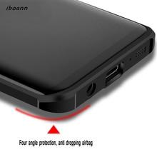 iboann Top Quality Airbag Anti-knock matte soft Case for samsung galaxy S7 edge S8 plus note8 J2 J3 J5 J7 2017 prime phone cases