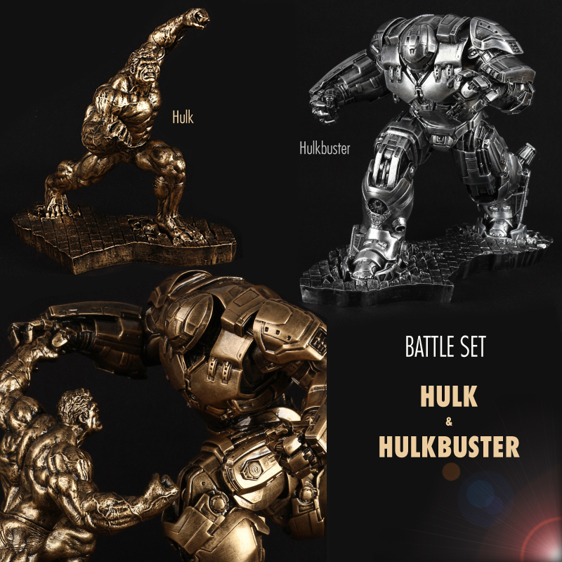 Pandadomik Hulkbuster Hulk Extra Large 50cm Resin Toy Figure Model Avengers Action Toy Figures figuras Gift Man Boys Marvel Toy