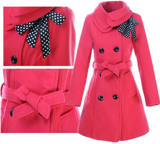 Guaranteed 100% Women's Woolen Warm Winter Coat Luxury Long ...