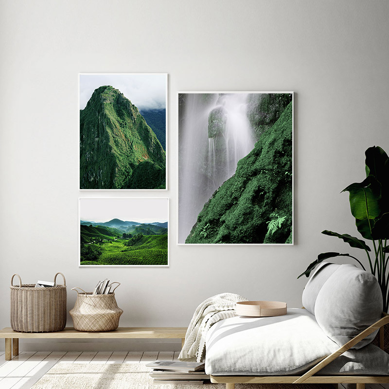 Scandinavian Poster Nordic Landscape Print Winter Mountain Scenery Wall Art Canvas Painting Nature Picture Modern Home Decor