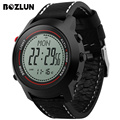 Bozlun MG03 Men Digital Sport Watch Compass Chronograph Altimeter Wristwatches with Alarm Leather Strap Relogio Masculino