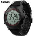 Mg03 bozlun homens digitais relógio do esporte bússola altímetro cronógrafo pulseira de couro relogio masculino relógios de pulso com alarme