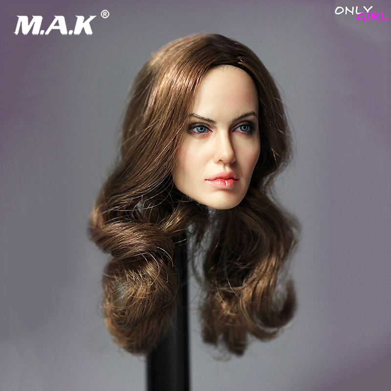 1/6 Angelina Jolie Head Carved US Actress Director Head Carving Model For 12 Action Figure Collection Doll Toys Gift 1 6 head sculpt male figure doll terminator connor damaged head carved head carving 1 6 action figure accessories toys gift