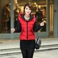 Baratos por atacado 2017 new Outono Inverno venda Quente das mulheres da moda ocasional para baixo de algodão pequenos pontos 5 cores casaco curto populares jaqueta
