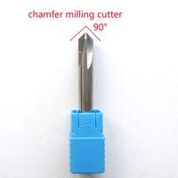 12mmx90 degree 4flutes HRC50 carbide Chamfer milling cutter for aluminum cnc endmills router bit