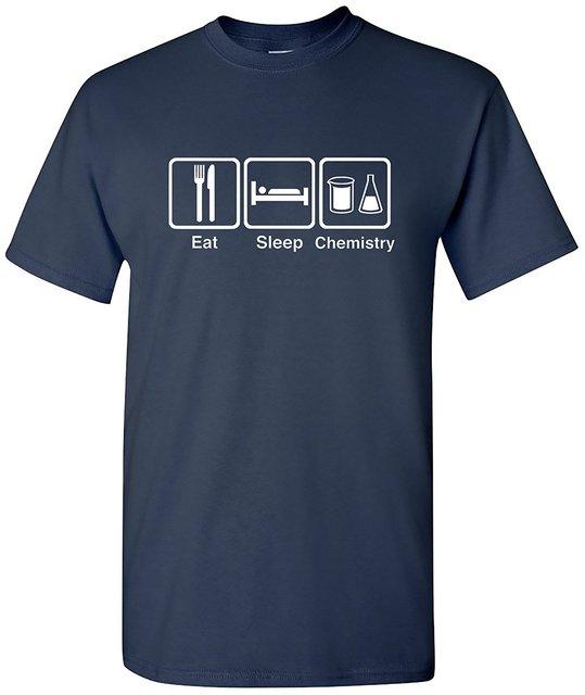 Eat Sleep Химии мужская Футболка