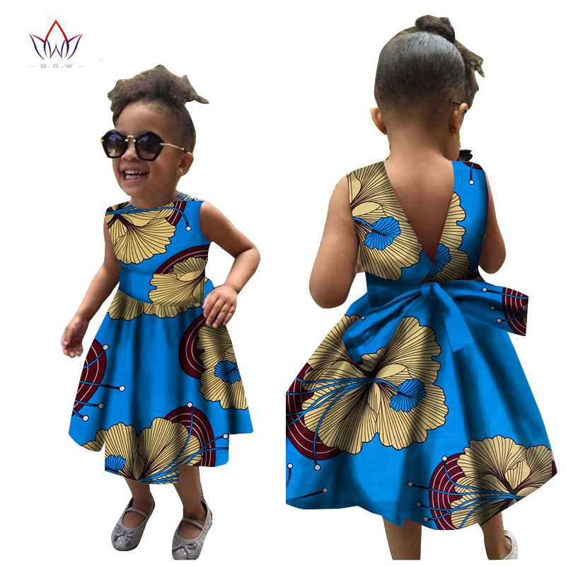 2019 Afrikanska kvinnor Kläder barn dashiki Traditionella bomull - Nationella kläder - Foto 6