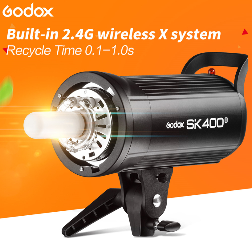 Godox SK400II Professional 400Ws Studio Flash Light Lamp Built-in GN65 2.4G Wireless X System Fire by Godox X1 XT32 XT16 Trigger