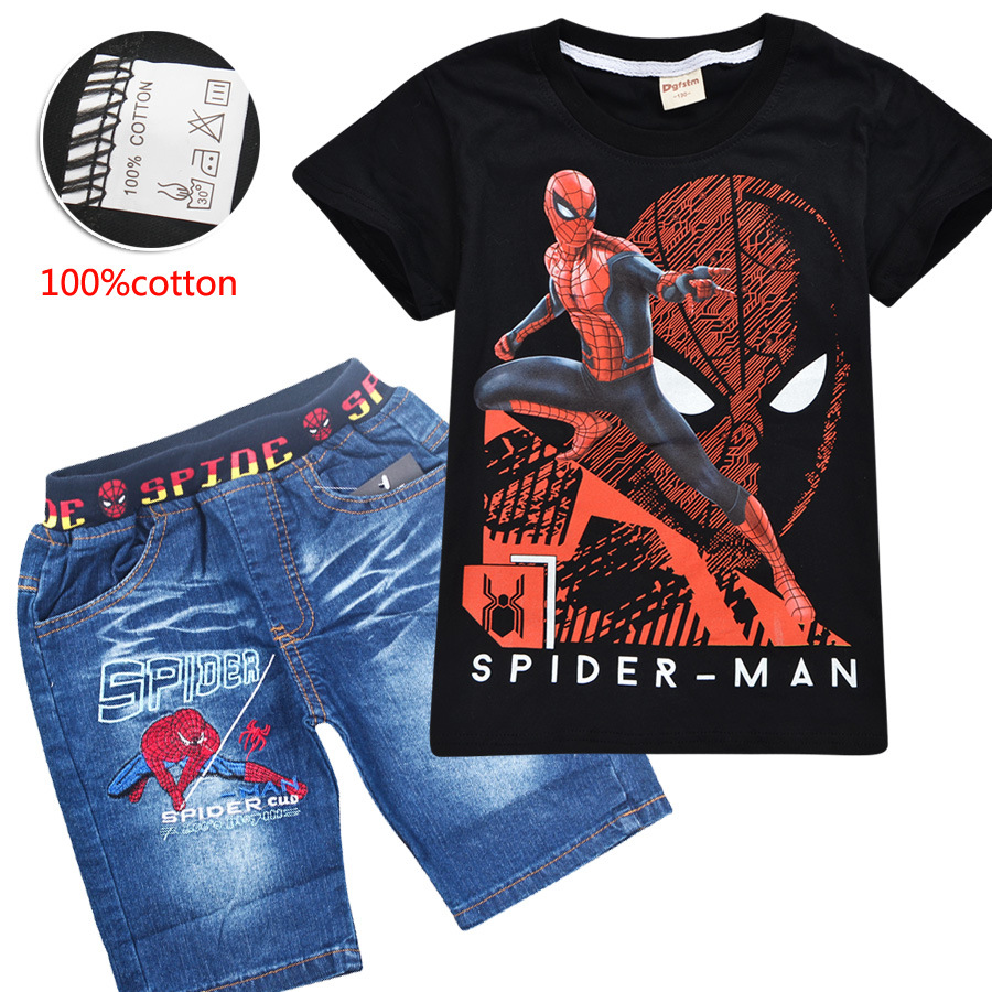 Marvel Boys Spiderman T-Shirt and Shorts Set