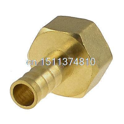 Brass 10mm Hose Barb to 1/2 NPT Female Thread Air Pneumatic Coupler Connector 2 pieces 10mm hose barb x 1 8 inch male bsp thread dia 9 5mm brass barbed fitting coupler connector adapter 232psi