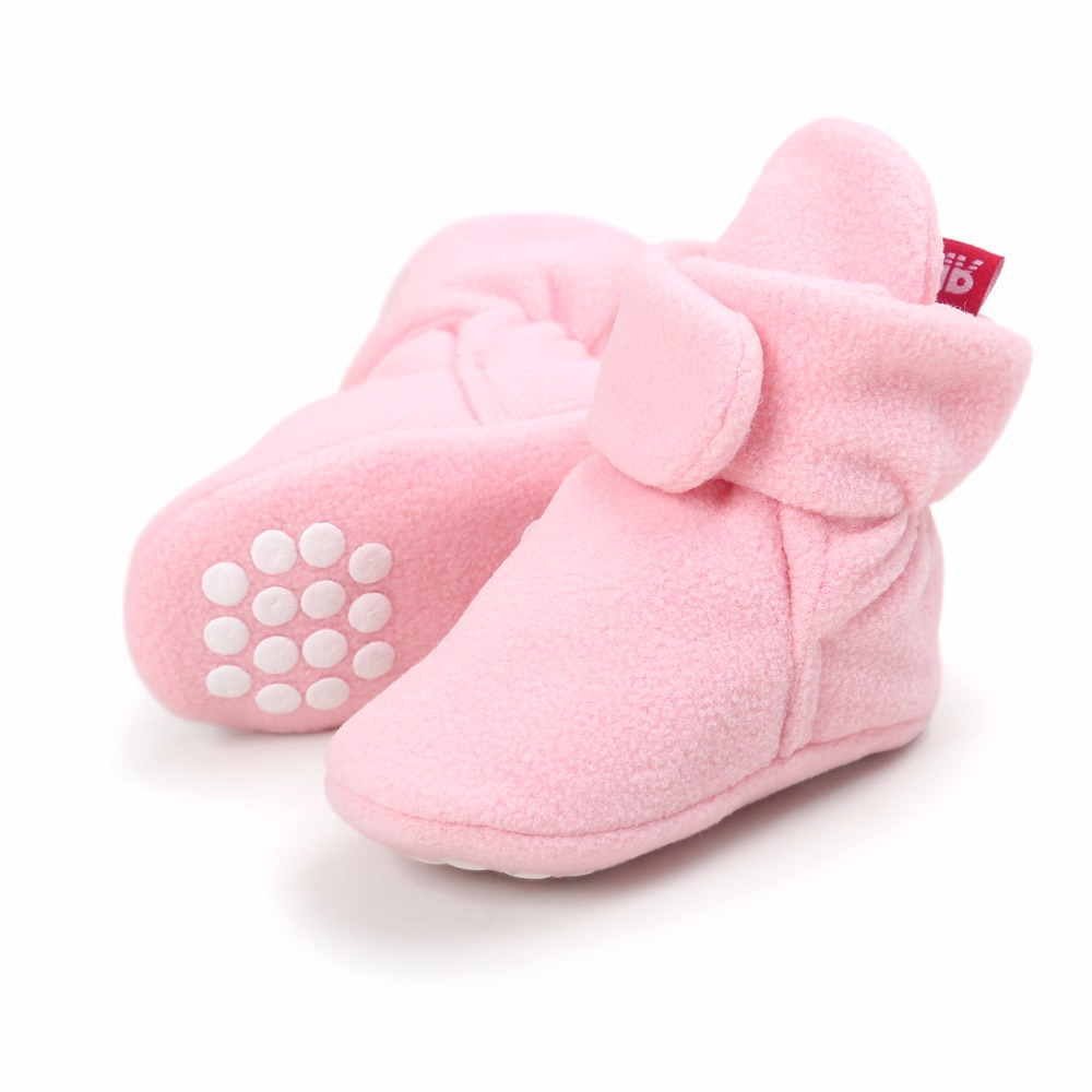 ROMIRUS New baby shoes Newborn Cozie Faux Fleece Bootie Winter Warm Infant Toddler Crib Shoes Classic Floor Boys Girls Boots