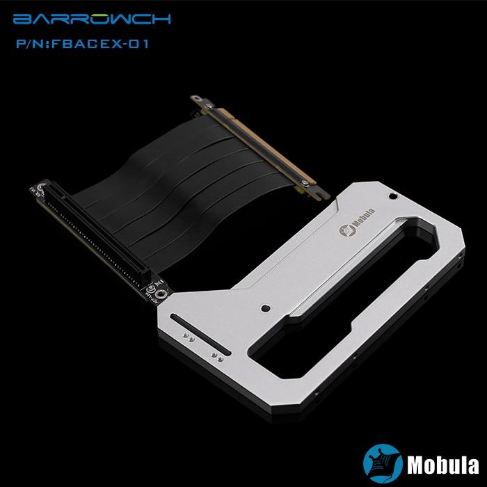 Barrowch silver/black Mobula modular computer case graphics card assemble accessory ,lying installition gadget compatible Mobula mobula со 3l