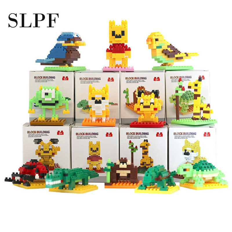 SLPF Building Blocks Assembly Toys Building Brick Animal Robot Model Kit Children Educational DIY  Boys Girls Gifts Legoings N07