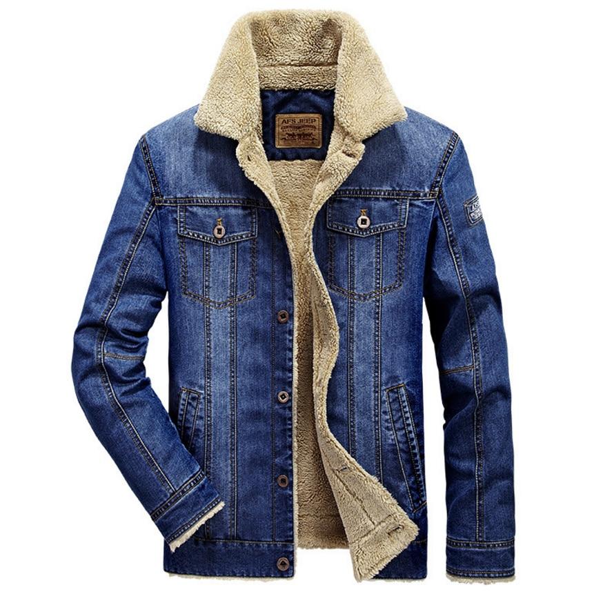 LONMMY M-4XL 2018 Winter Jeans Jacke Herren Mantel Jeans Herren Jacke - Herrenbekleidung - Foto 2