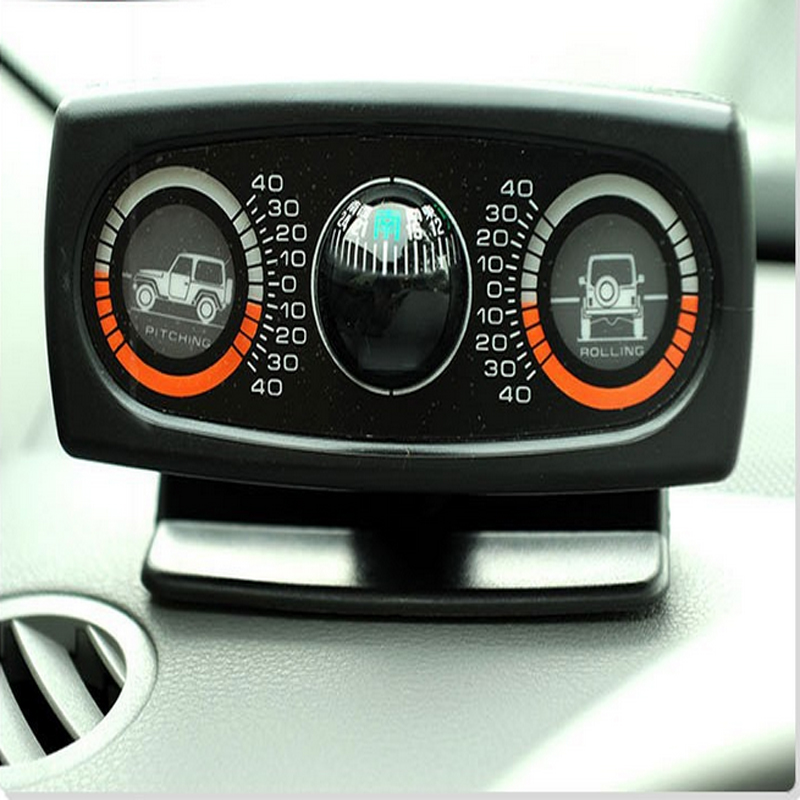 ФОТО Car Level Wave Instrument compass balancer car level meter slope SUV guide ball Special Slope instrument Tilt mete
