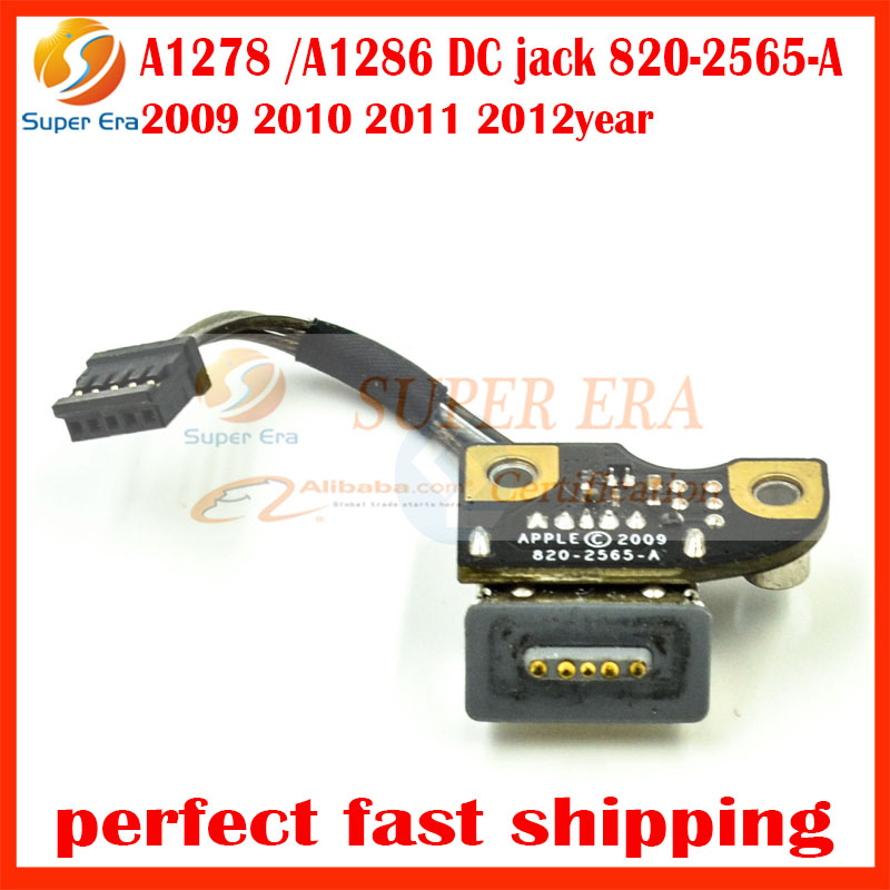 Original 820-2565-A DC Jack for Apple MacBook Pro 13 15 A1278 A1286 DC in Power board Jack Cable 2009 2010 2011 2012 Year