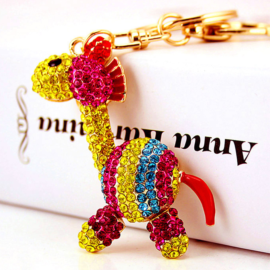 Creative rhinestone Exquisite Cute Zebra keychain charm women handbag  keyring car key holder bag accessory Friends gift R234-in Key Chains from  Jewelry ... c72c26bd67