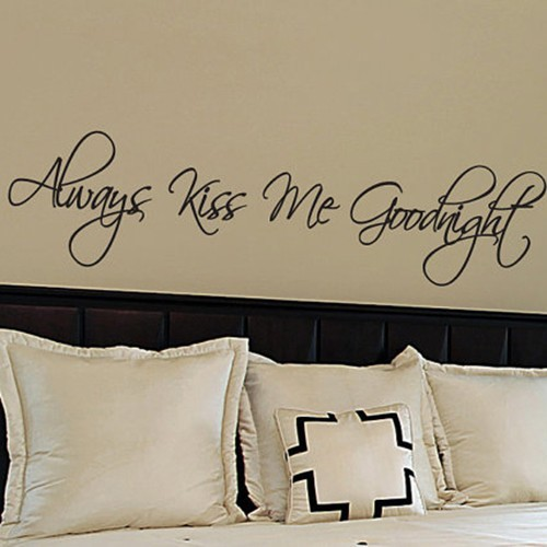 Always Kiss Me Goodnight   Housewares Love Words U0026 Letters Wall Stickers  Vinyl Wall Decals Quote