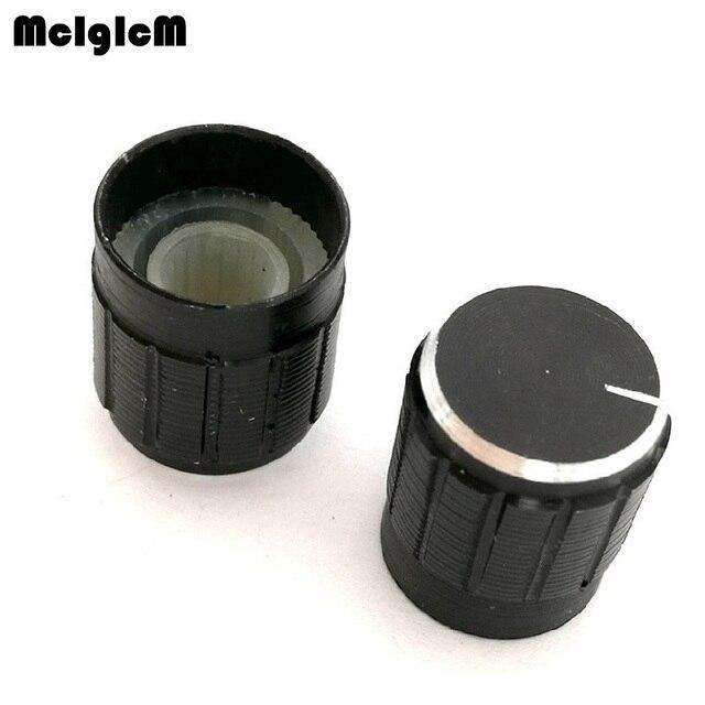 500 個 15*17 ミリメートルアルミ合金ポテンショメータノブロータリースイッチボリュームコントロールノブ黒