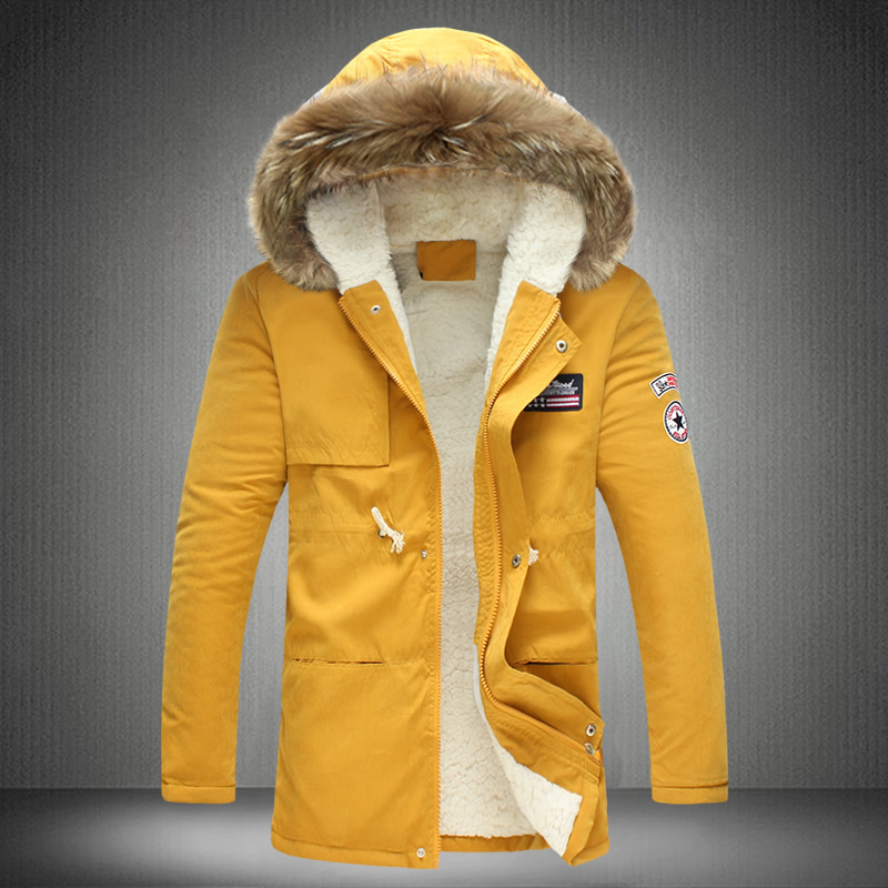 2017 Neue Winter Mäntel Parkas Jacke Männer Mit Kapuze Starke Warme Pelz Kragen Outwear Plus Größe M-3xl 4xl 5xl