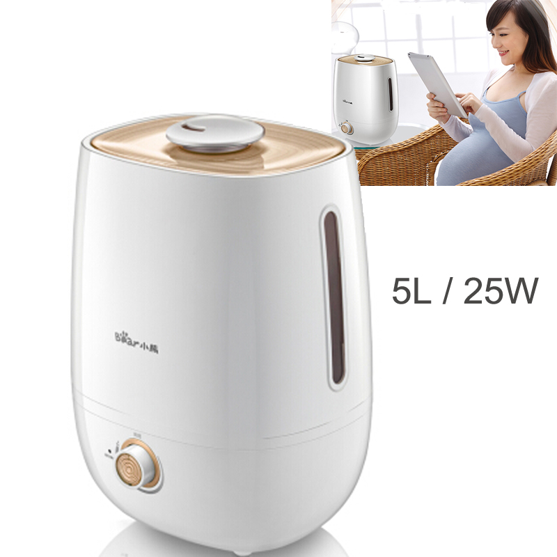 15%JA101 Home Silent Ultrasonic Humidifier 5L 25W Air Purifier Portable Fine Mist Maker With Silver Ion Antibacterial Water Tank
