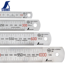 SHINWA стальная железная линейка из нержавеющей стали утолщенная шкала стальная линейка 15 30 60 100 см