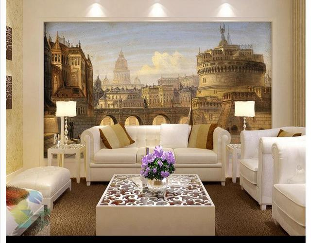 custom 3d wall murals wallpaper Roman holy angels european style