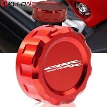 รถจักรยานยนต์อลูมิเนียมCNCรถจักรยานยนต์เบรคกระบอกสูบMaster Cylinder ReservoirฝาครอบหมวกสำหรับHonda CBR929RR CBR 929RR CBR 929 RR