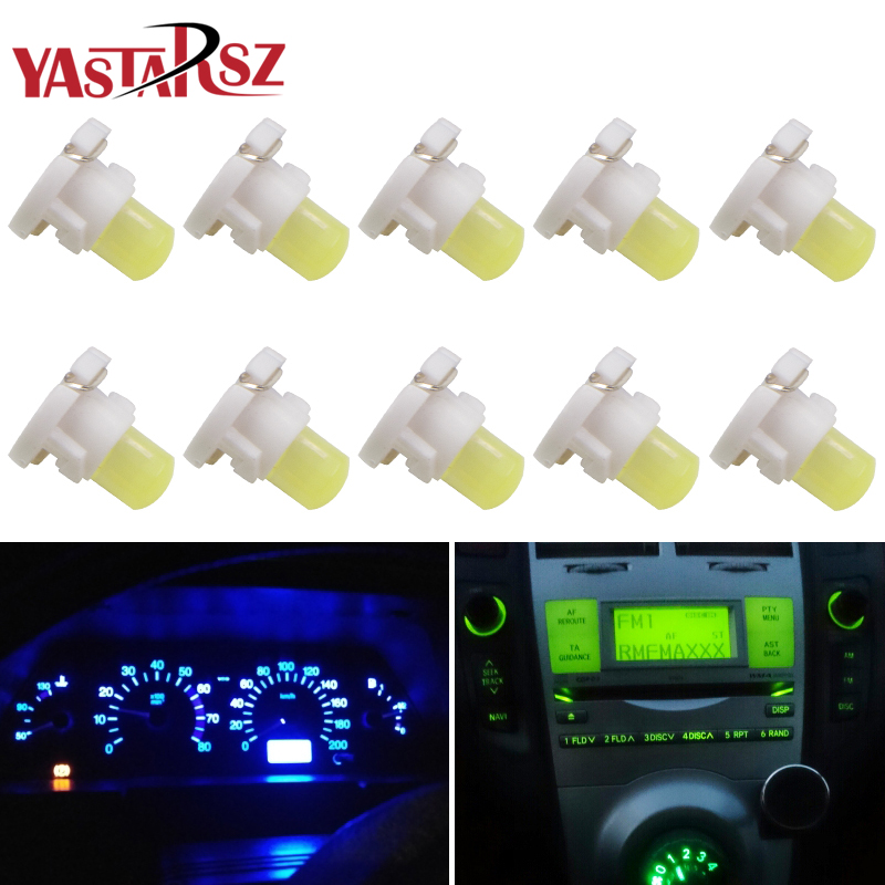 цена на 10pcs T3 Led Neo Wedge Dashboard Instrument Cluster Light Car Panel Gauge Speedo Dash Lamp Bulbs White Yellow Red Blue Green