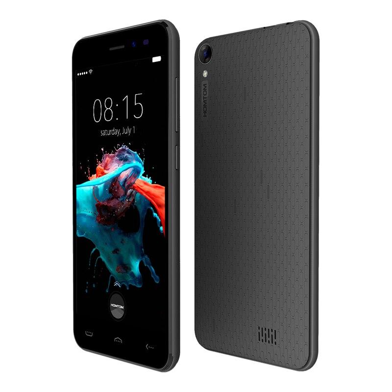 Original nouveau homtom ht16 5.0 pouce 1280x720hd mt6580 1.3 ghz android 6.0 3G WCDMA Quad Core 1 GB + 8 GB 8MP Nouvelle Smart Mobile Téléphone