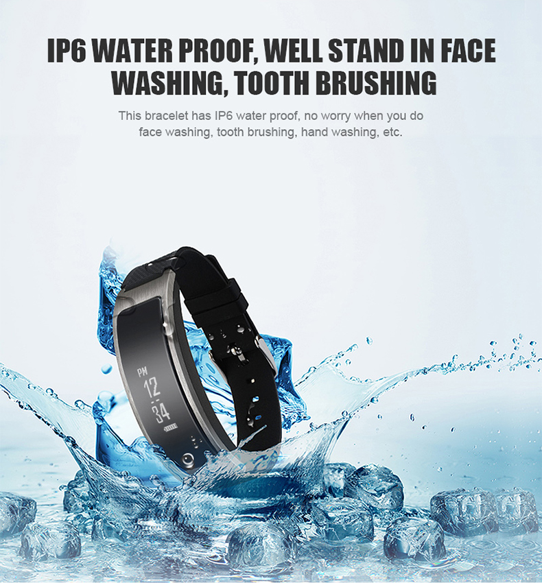 Smartch I8 Smart Bracelet Talk Band Heart Rate Blood Pressure Oxygen Pedometer Bluetooth smartband watch Than Huawei B3 10
