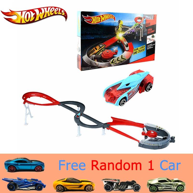Hot Wheels Track Suit Plastic Matel Miniatures Car Track Big Size Hotwheels Toy Model X2589 Classic