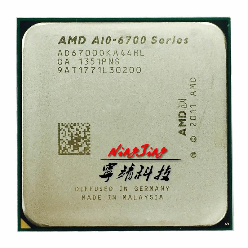 AMD APU A10 6700 APU A10 6700k AD6700OKA44HL разъем FM2 четырехъядерный процессор 3,7 ГГц