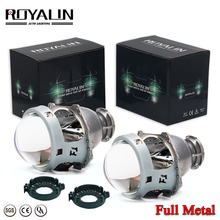ROYALIN Upgrade Hella 3/5 G2 Bi Xenon Projector Lens Blue Film Coating 3.0 Aluminum Head Lamp Car Styling Use D1S D2S D3S D4 HID