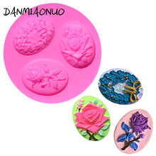 Rose Silicone Mold Cake Lace Fondant Cake Decorating Tools 3d Soap Molds Silicone Chocolate Mould Baking Tools For Cakes A475039 цена и фото