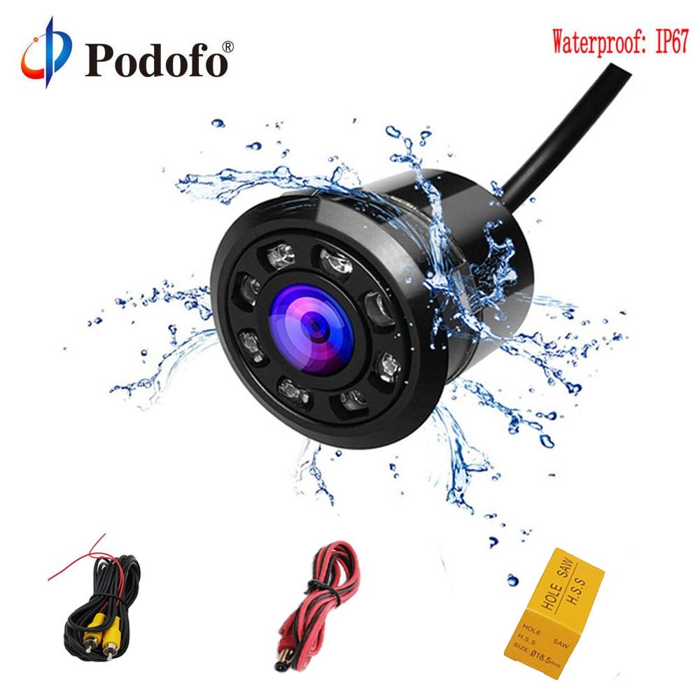 CCD Waterproof LED Night Vision Cars Rear view Backup Reverse Parking Camera H#