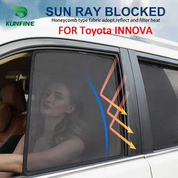 4PCS/Set Or 2PCS/Set Magnetic Car Side Window SunShades Mesh Shade Blind For Toyota INNOVA Car Window Curtian