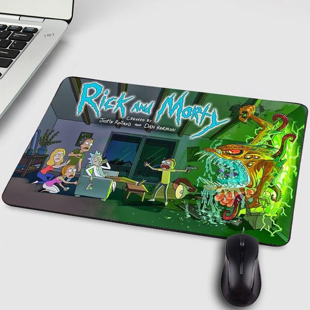 ホット人気漫画マンガアニメリックと Morty クリエイティブおかしいユーモア柄プリントマウス Pc のコンピュータゲームのプレイマット