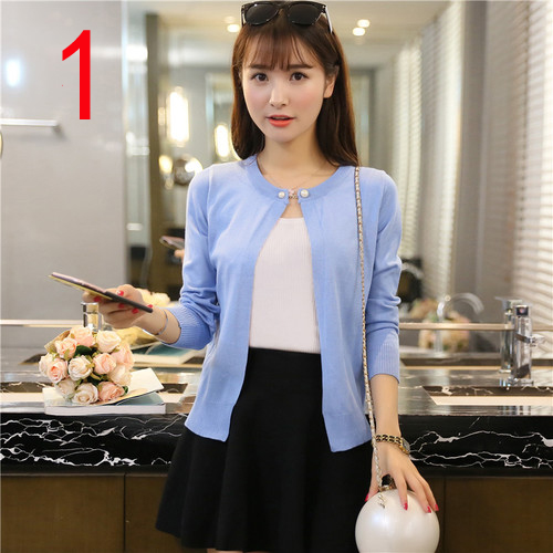 J60895 Summer Office Lady Cardigans Thin Sweet Elegant Office Workwear Casual Sweet Crochet Knitted Tops Cardigans