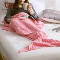 BeddingOutlet sirena manta hecha a mano manta de cola de sirena para adultos chico Multi colores tamaño 3 de sirena de ganchillo Manta