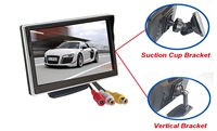 2 Ways Video Input 5Inch Digital TFT LCD Suction Cup Vertical Bracket Car Rear View Monitor