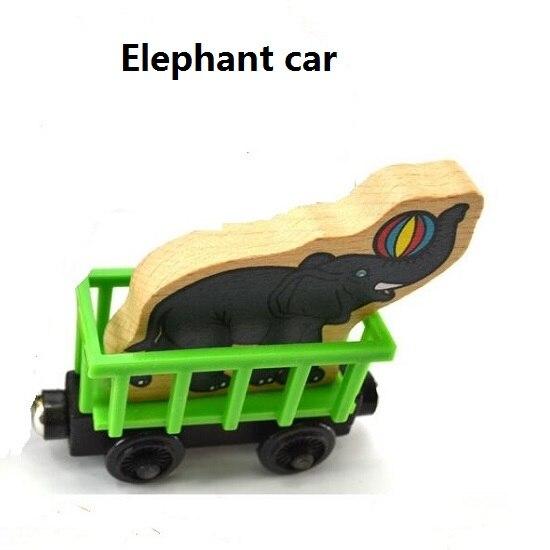 Деревянные магнитные паровозики, игрушки для железной дороги, деревянные паровозики для детей, подарок для детей, модель поезда - Цвет: Яркий