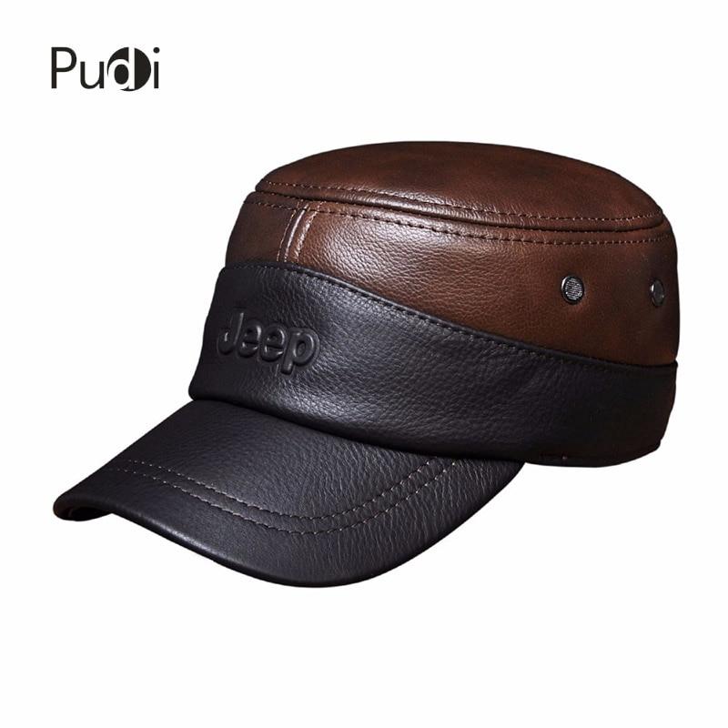 HL126 Men womens  real leather baseball cap brand new genuine golf beret caps hats