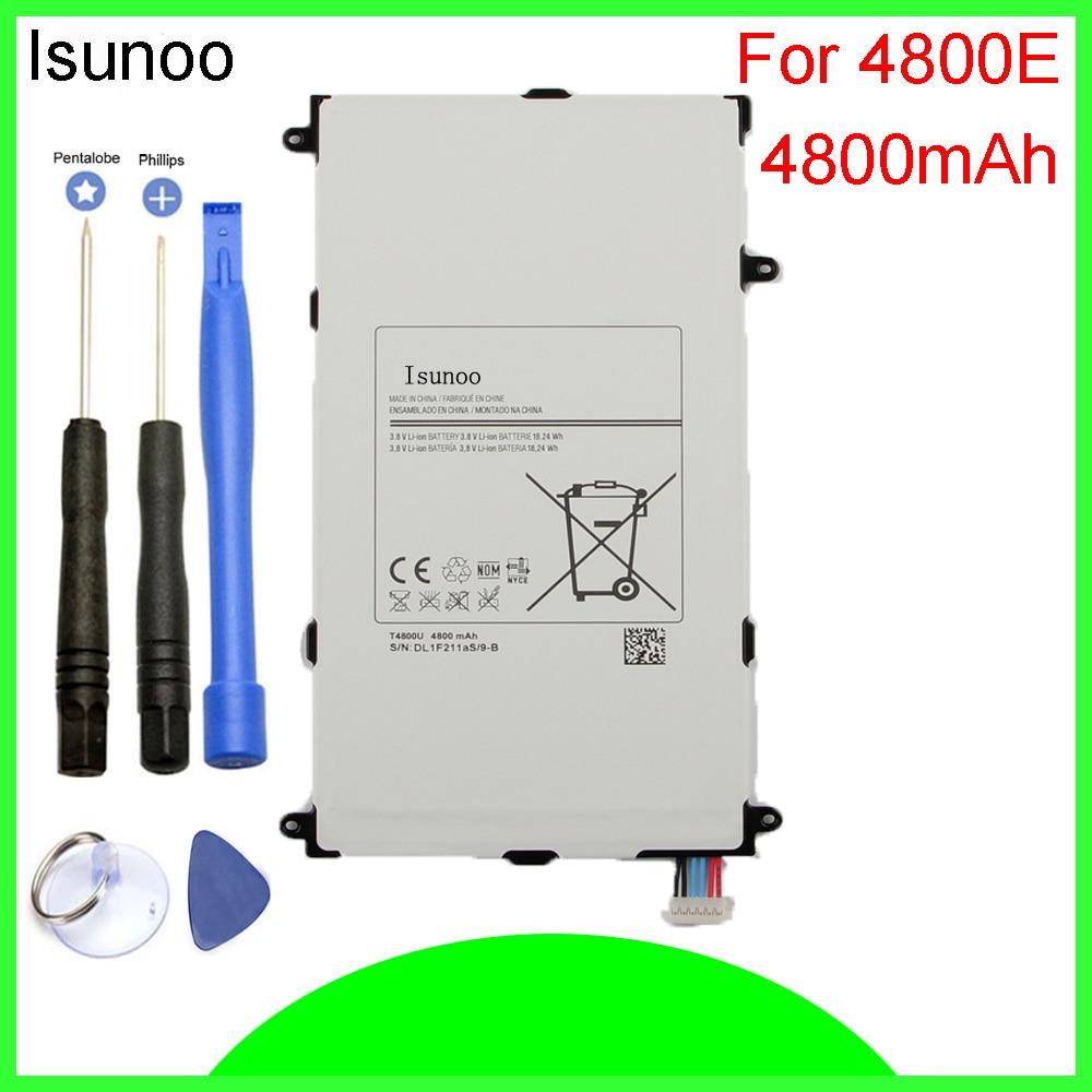 ISUNOO T4800E T4800C Batterie 4800 mAh Für Samsung Galaxy Tab Pro SM T320 T321 T325 Li-Polymer Batterie mit reparatur werkzeuge