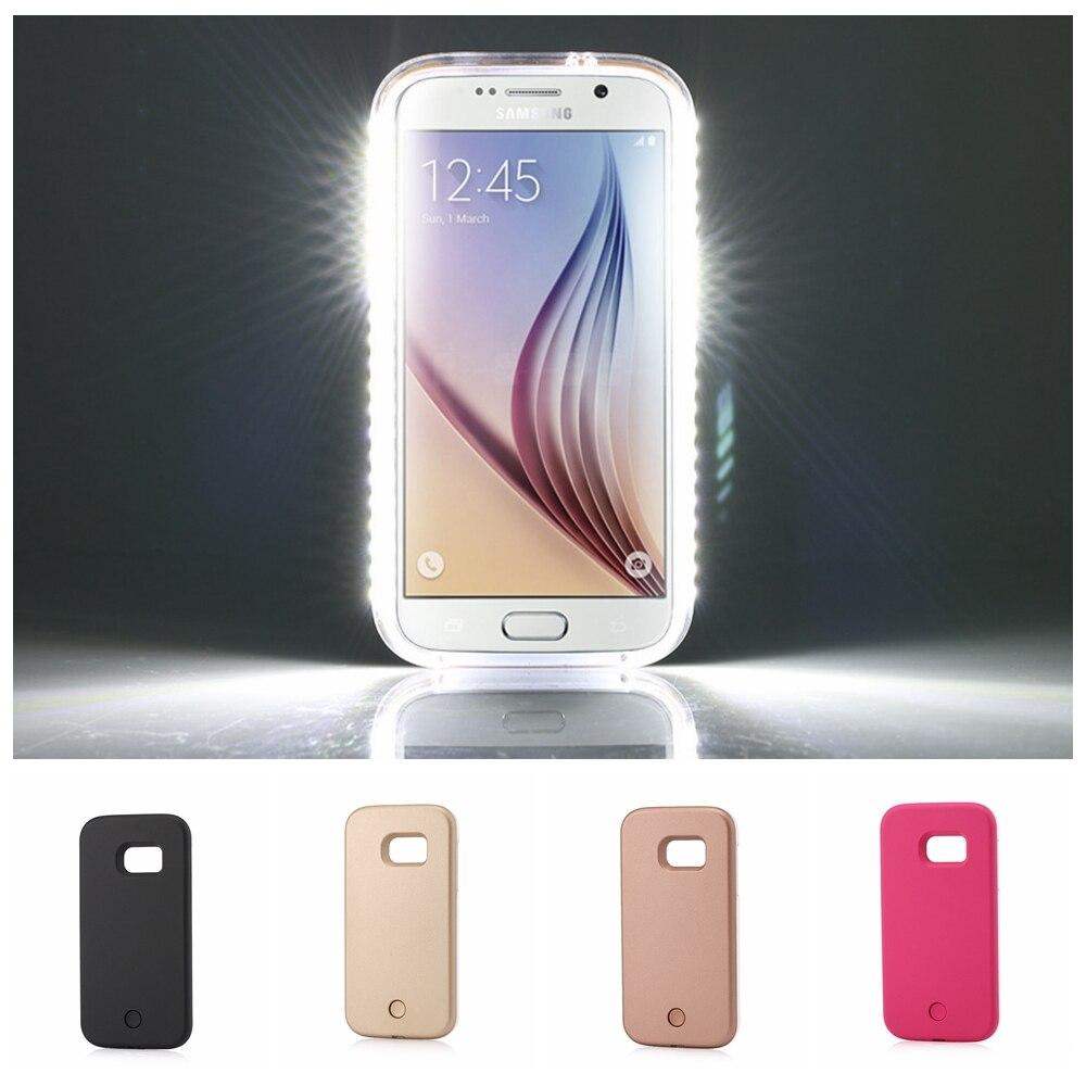 Fashion LED Selfie Case For Samsung Galaxy S5 S6 S6Edge S7 S6 Edge Plus LED Light